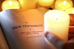 Bibel, leuchtet zum Gottessohn