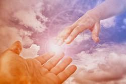 Helfende Hand des Gottessohnes