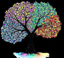 Baum symbolisiert Persönlichkeitsentwicklung durch Seminare und Workshops